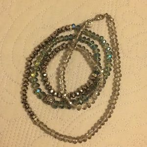 Long bead necklace